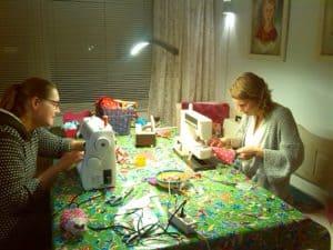 Vlaggetjes naaien