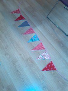 Workshop Vlaggetjes naaien, resultaat