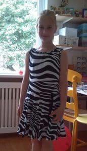 Zebrajurk - voorkant